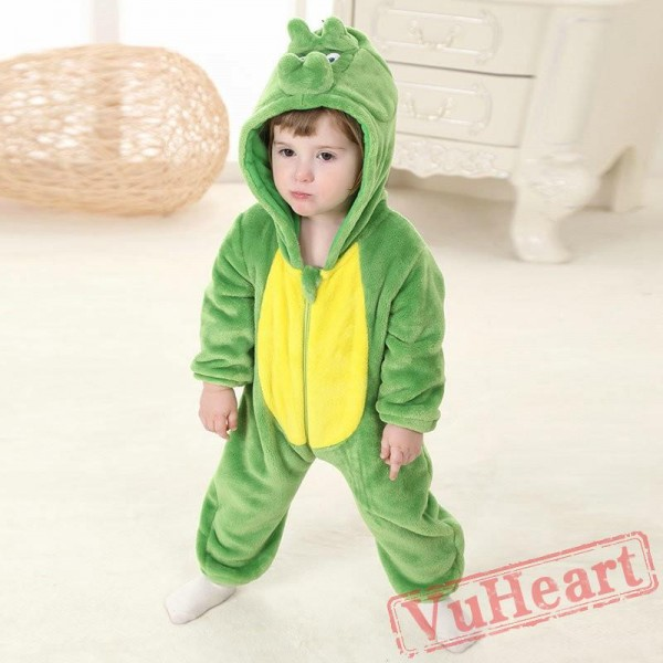 Green Dinosaur Kigurumi Onesies Pajamas Costumes Toddler Pajamas for Baby