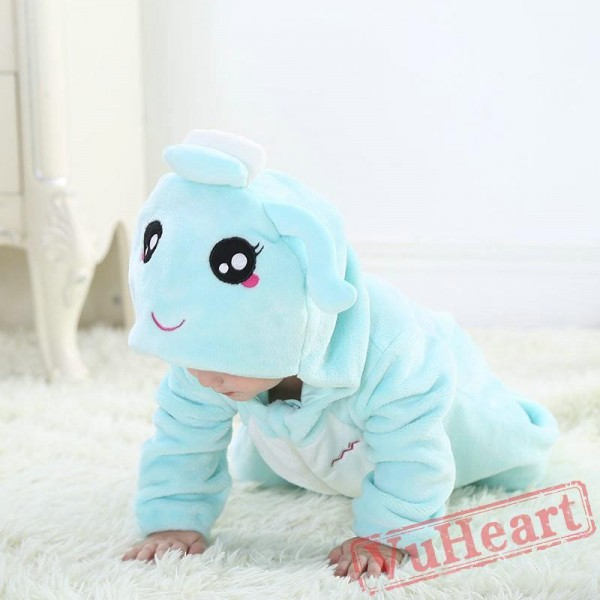 Aquarius Blue Zodiac Kigurumi Onesies Pajamas Costumes Toddler Pajamas for Baby