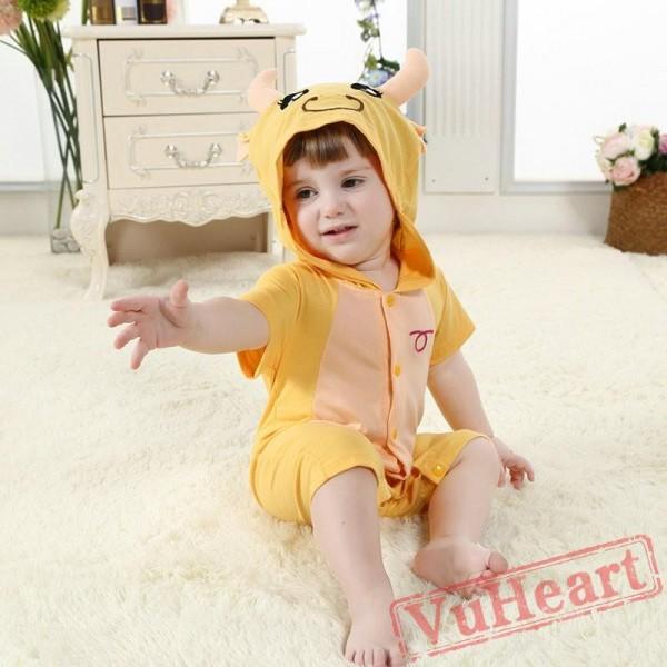 Taurus Bull Zodiac Kigurumi Onesies Pajamas Costumes for Baby