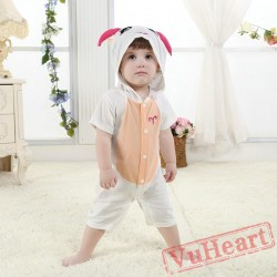 Aries White Sheep Kigurumi Onesies Pajamas Costumes for Baby