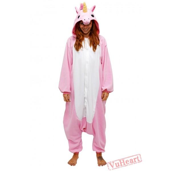 Pink Unicorn Kigurumi Onesies Pajamas Costumes for Women & Men
