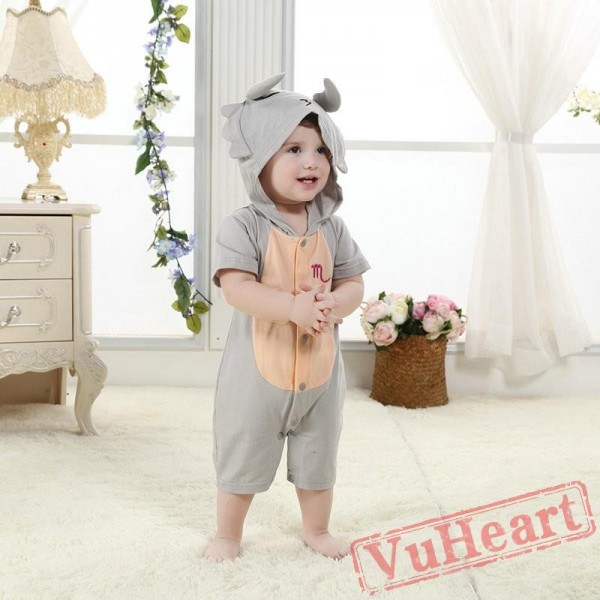 Scorpio Grey Scorpion Kigurumi Onesies Pajamas Costumes for Baby