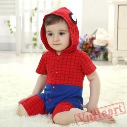 Spiderman Kigurumi Onesies Pajamas Costumes Summer Pajamas for Baby