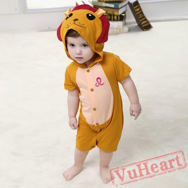 Brown Lion Kigurumi Onesies Pajamas Costumes Summer Pajamas for Baby