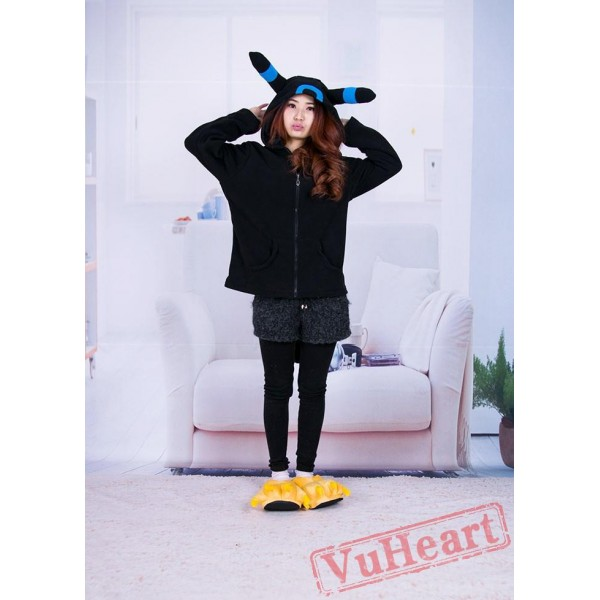 Pocket Monster Pokemon Umbreon Eevee Blue Black Kigurumi Hoodie Coat