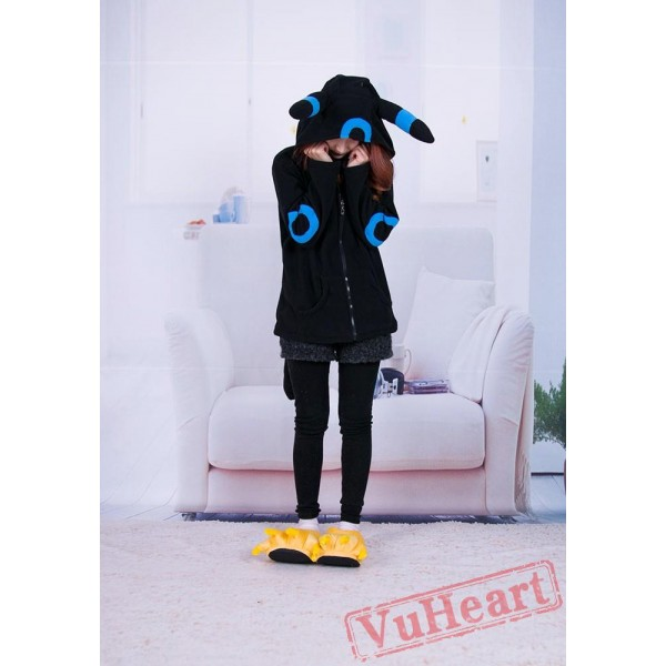 Pocket Monster Pokemon Umbreon Eevee Blue Black Kigurumi Hoodie Coat