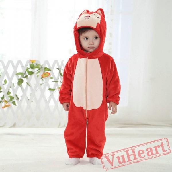 Red Fox Kigurumi Onesies Pajamas Costumes Winter Pajamas for Baby
