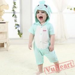 Aquarius Zodiac Blue Kigurumi Onesies Pajamas Costumes Summer Pajamas for Baby
