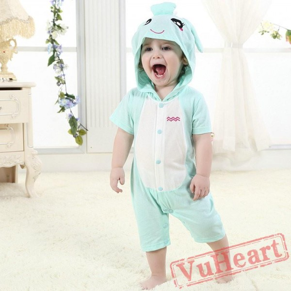 Aquarius Zodiac Blue Kigurumi Onesies Pajamas Costumes Summer Pajamas for Baby