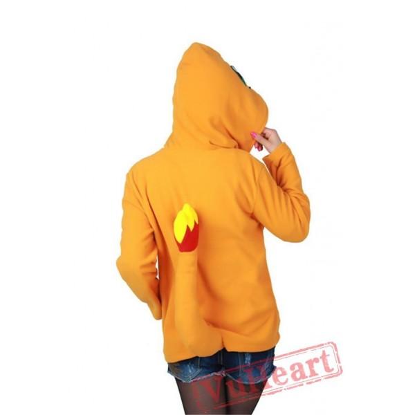 Charm&er Fire Dragon Long Sleeve Cartoon Kigurumi Hoodie Coat Jacket