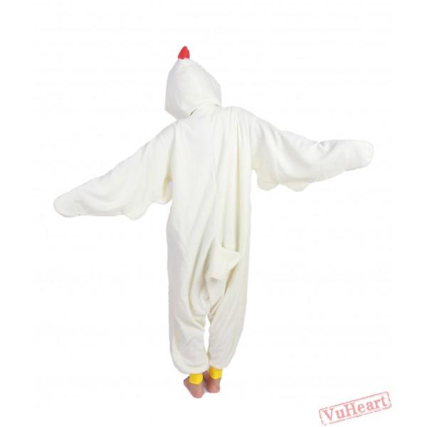 White Cock Kigurumi Onesies Pajamas Costumes for Women & Men