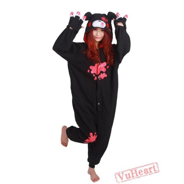Black Gloomy Kigurumi Onesies Pajamas Costumes for Women & Men