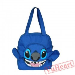 Disney Cartoon Blue Stitch Nylon H&bags Single Shoulder Bags