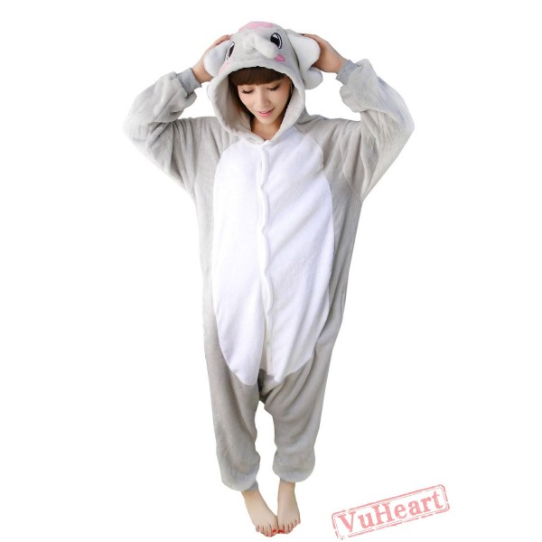 Gray Elephant Kigurumi Onesies Pajamas Costumes for Women & Men