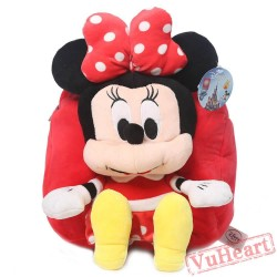 Disney Minnie Mouse Kids Children Cartoon School Bags Backpacks