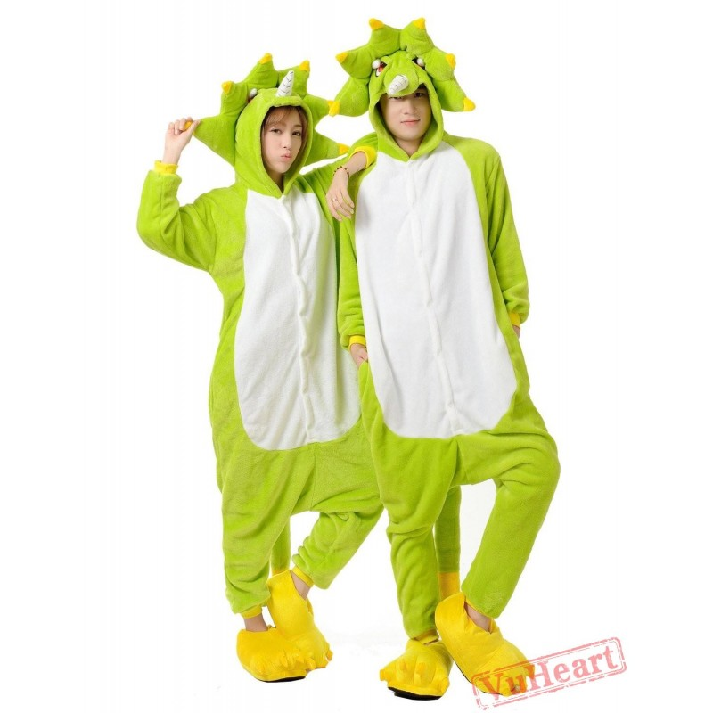 ea89ac43e346 Green Monster Kigurumi Onesies Pajamas Costumes for Women   Men