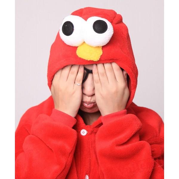 Red Cookie Monster Kigurumi Onesies Pajamas Costumes for Women & Men
