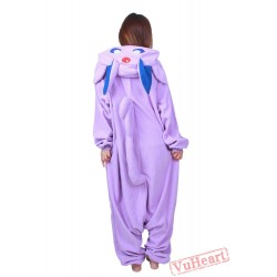 Purple Pokemon Kigurumi Onesies Pajamas Costumes for Women & Men