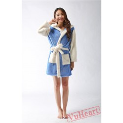Blue Stitch Winter Warm Robe Couple Spleepwear Kigurumi Pajamas