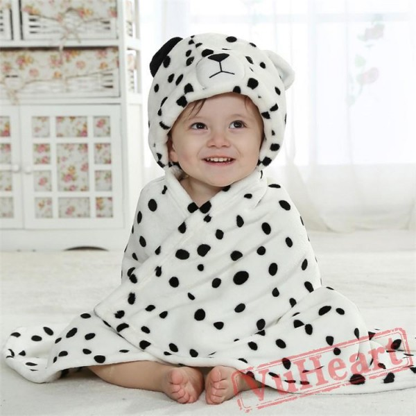 Snow Leopard Baby Flannel Kigurumi Pajama Hoodie Cloak/Blanket/Shawl