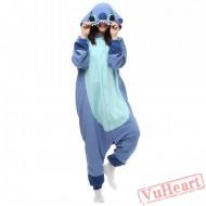 Blue Stitch Kigurumi Onesies Pajamas Costumes for Women & Men