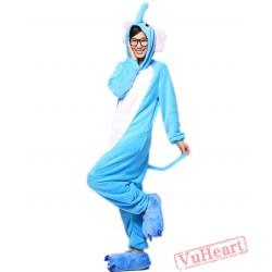 Blue Elephant Kigurumi Onesies Pajamas Costumes for Women & Men