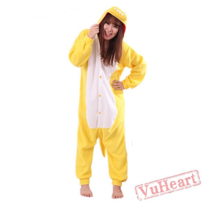 e63292b958f1 Women   Men Yellow Dragon Kigurumi Onesies Pajamas Costumes