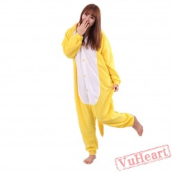 Yellow Dragon Kigurumi Onesies Pajamas Costumes for Women & Men