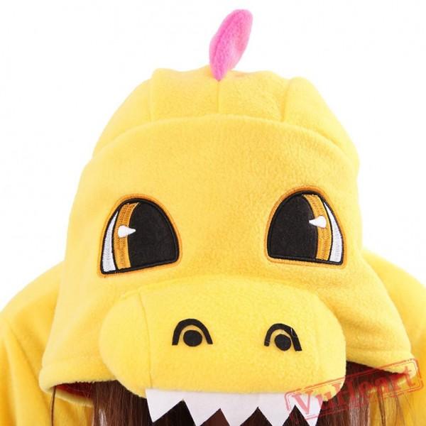 Yellow Dragon Kigurumi Onesies Pajamas Costumes for Women & Men