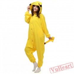 Pikachu Kigurumi Onesies Pajamas Costumes for Women & Men