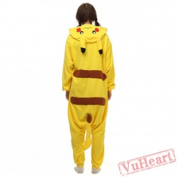Pikachu Kigurumi Onesies Pajamas Costumes for Women & Men