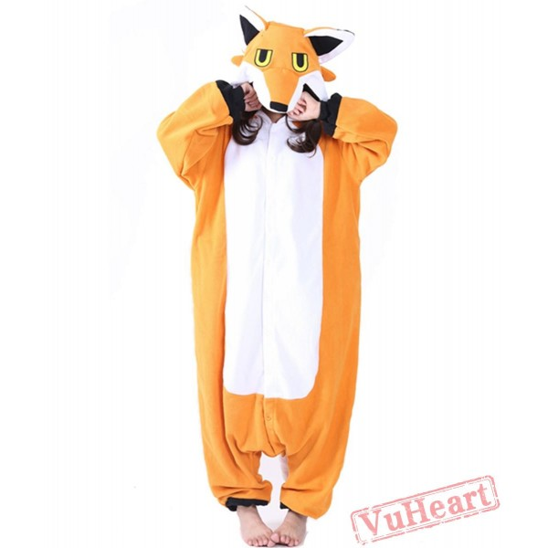 Yellow Fox Kigurumi Onesies Pajamas Costumes for Women & Men