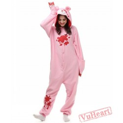 Pink Gloomy Kigurumi Onesies Pajamas Costumes for Women & Men