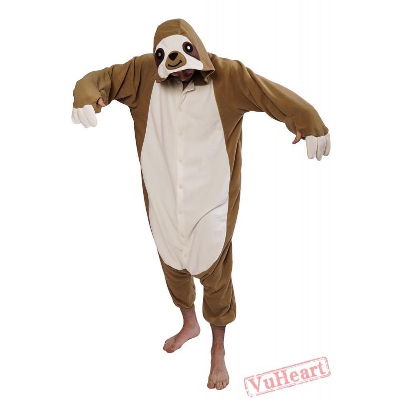 Women Amp Men Flash Sloth Kigurumi Onesies Pajamas Costumes