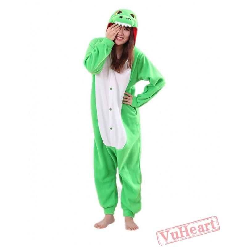 Women   Men Green Dragon Kigurumi Onesies Pajamas Costumes 90daa7e9f