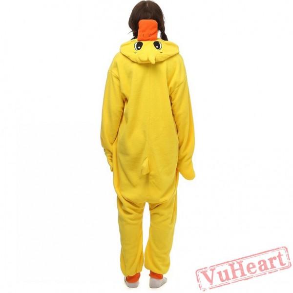 Yellow Duck Kigurumi Onesies Pajamas Costumes for Women & Men
