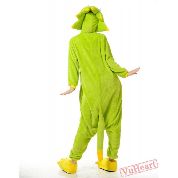 Green Monster Kigurumi Onesies Pajamas Costumes for Women & Men