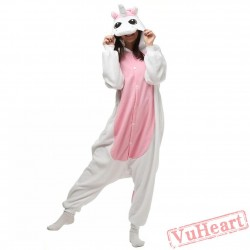 White Pink Unicorn Kigurumi Onesies Pajamas Costumes for Women & Men
