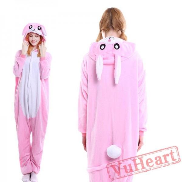 Pink Ears Rabbit Bunny Kigurumi Onesies Pajamas Costumes for Women & Men