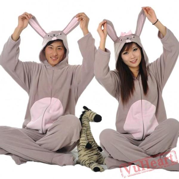 Grey Rabbit Kigurumi Onesies Pajamas Costumes for Women & Men