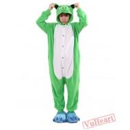 Green Paper Pig Kigurumi Onesies Pajamas Costumes for Women & Men