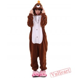 Brown The Mole Kigurumi Onesies Pajamas Costumes for Women & Men