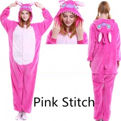 Pink StitchKigurumi Onesies Pajamas Costumes for Women & Men