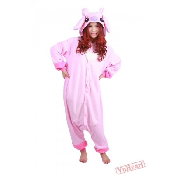 Pink Stitch Kigurumi Onesies Pajamas Costumes for Women & Men