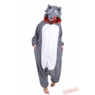 Grey Wolf Kigurumi Onesies Pajamas Costumes for Women & Men