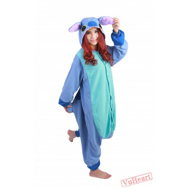 Blue Stitch Kigurumi Onesies Pajamas Costumes for Women & Men