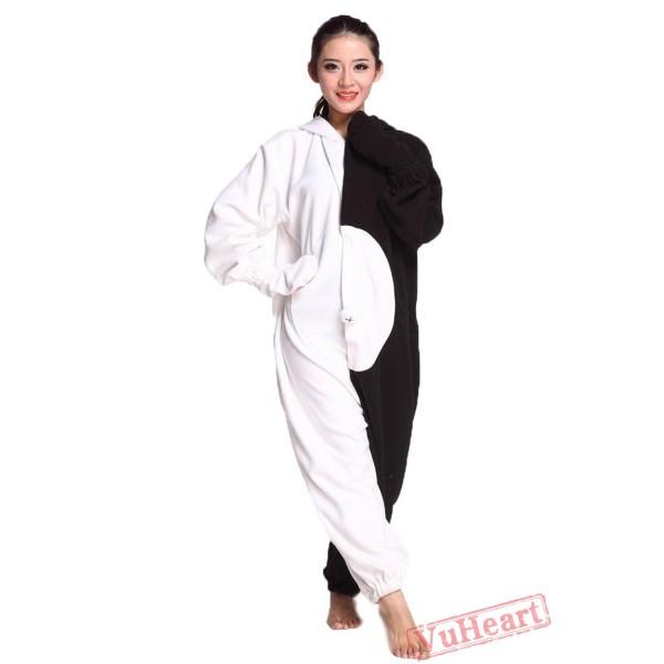 White & Black Bear Kigurumi Onesies Pajamas Costumes for Women & Men
