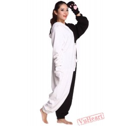 White & Black Bear Kigurumi Onesies Pajamas Costumes for Women & Men