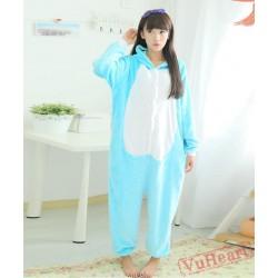 Blue Habib Cat Kigurumi Onesies Pajamas Costumes for Women & Men
