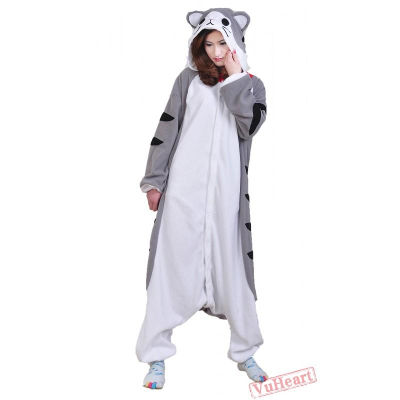 3faad13a2561 Women   Men Cheese Cat Kigurumi Onesies Pajamas Costumes